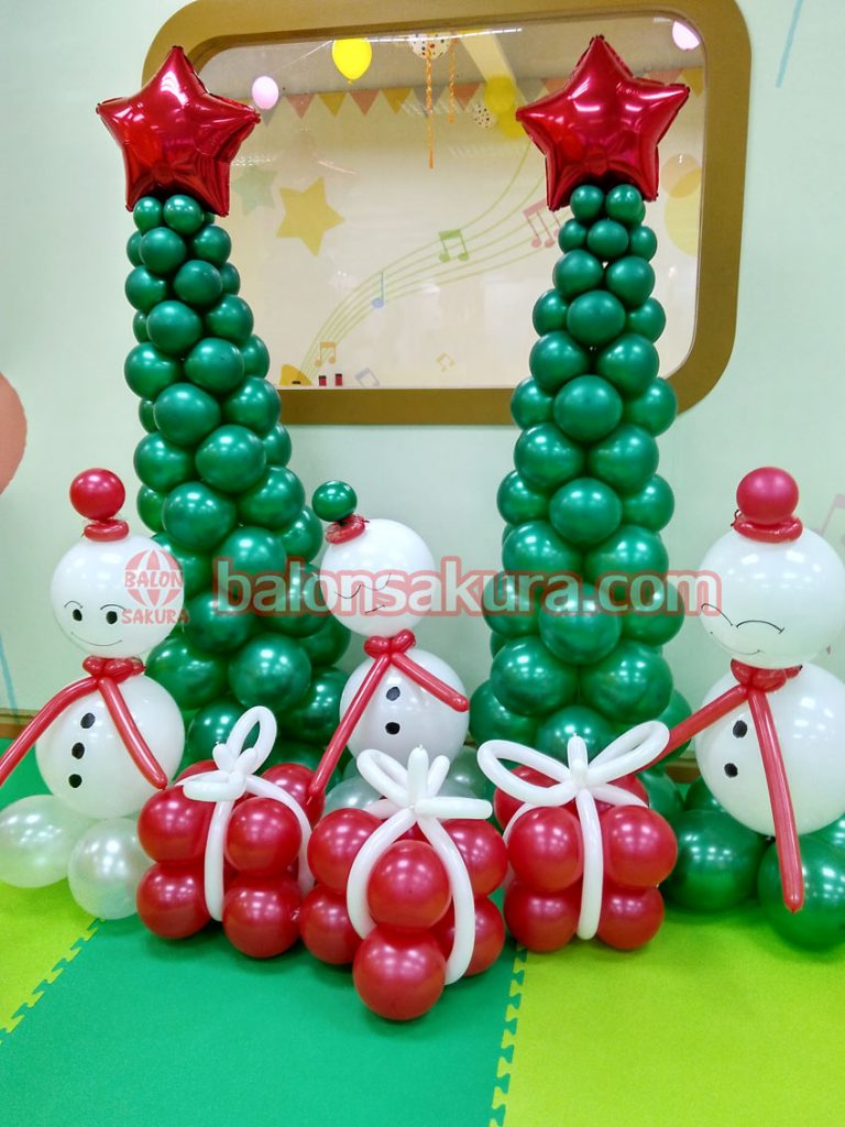 balon dekorasi natal