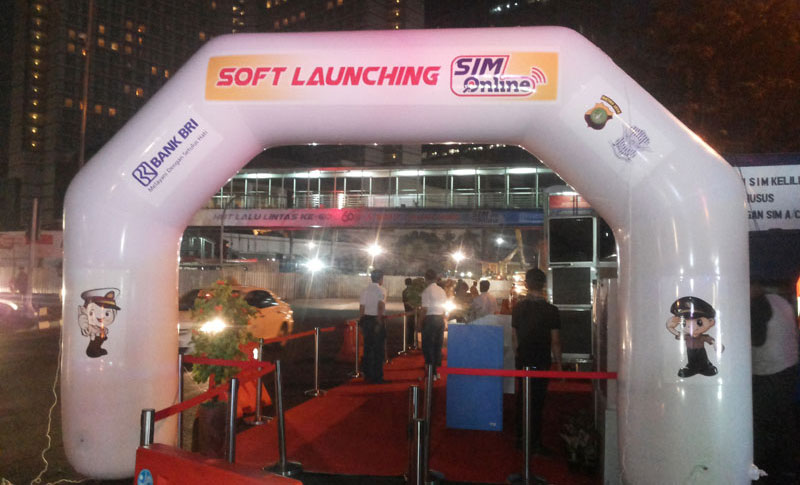 balon gate pvc launching