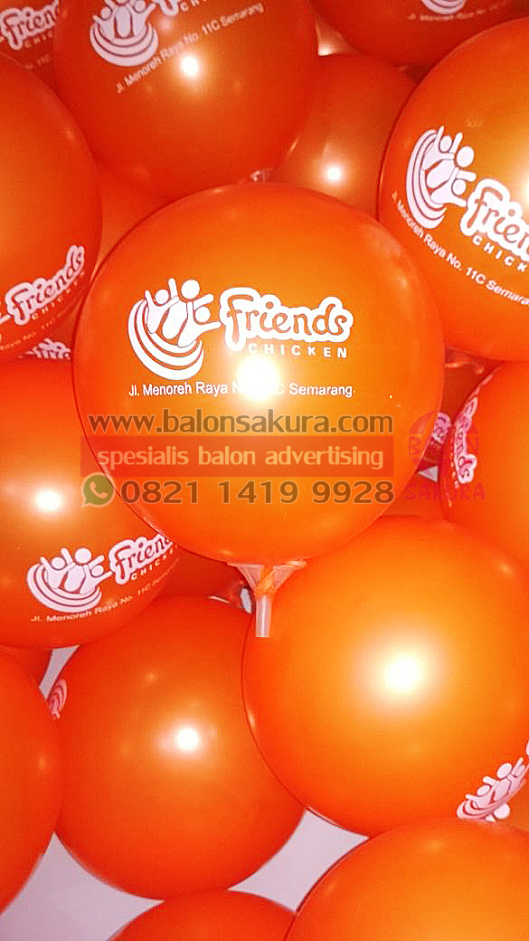 balon print friends chiken