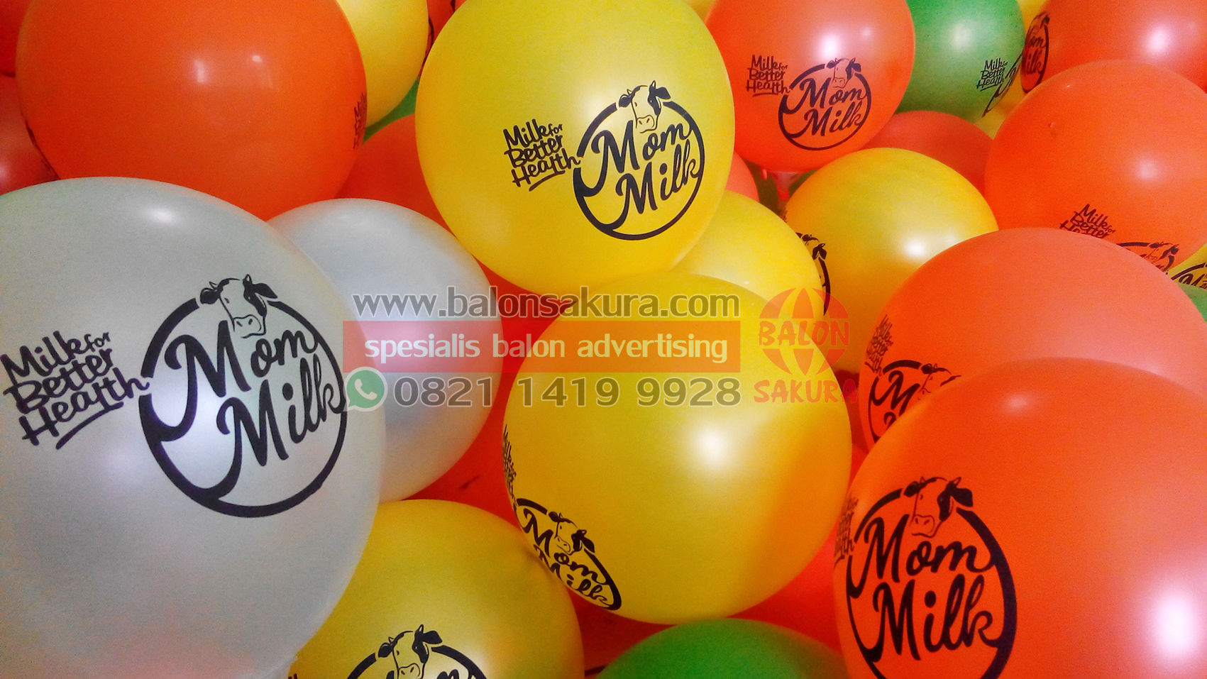 sablon balon mom milk