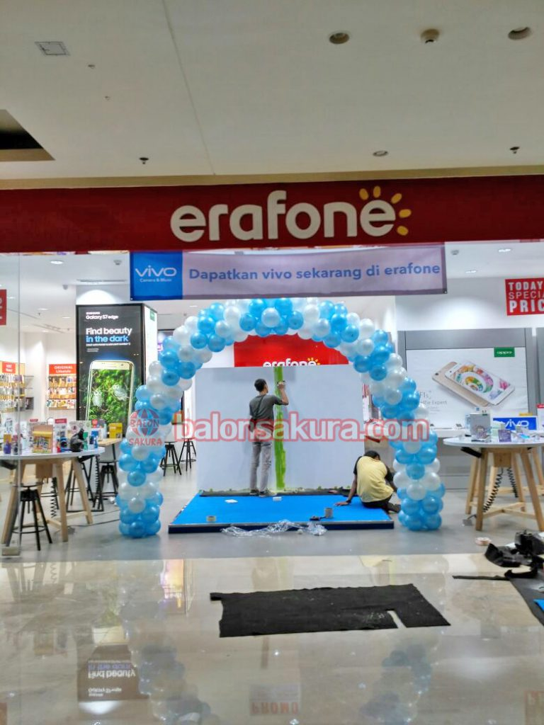 balon gate dekorasi mall