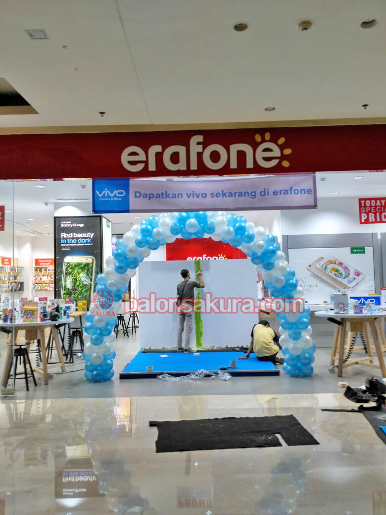 balon gate dekorasi mall