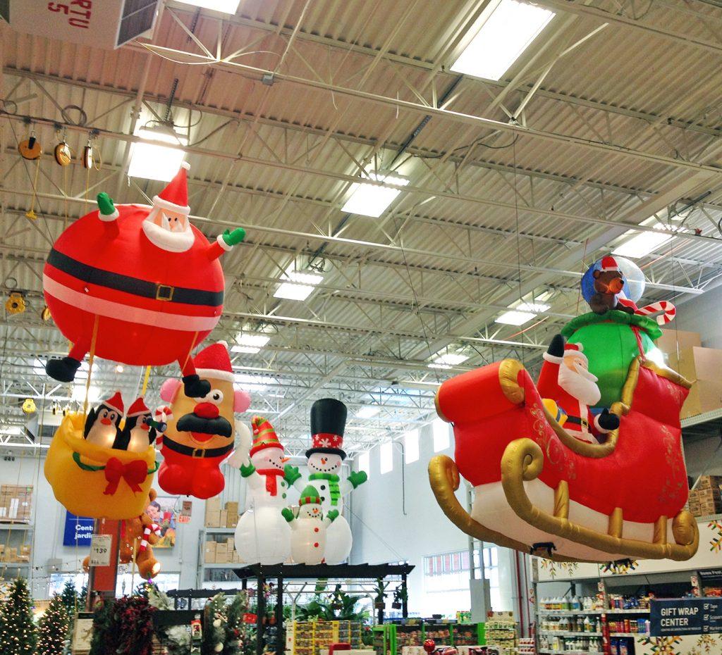 balon karakter natal gantung