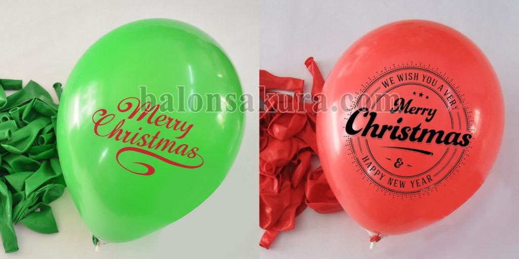 balon sablon natal & tahun baru