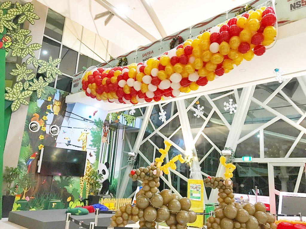 pemasangan balon drop jaring