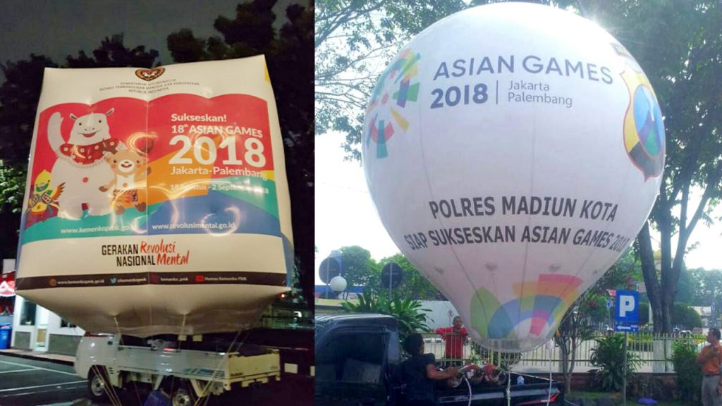 balon udara asian games