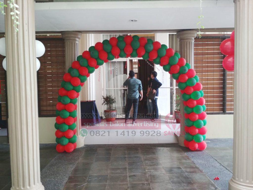 balon gate dekorasi natal
