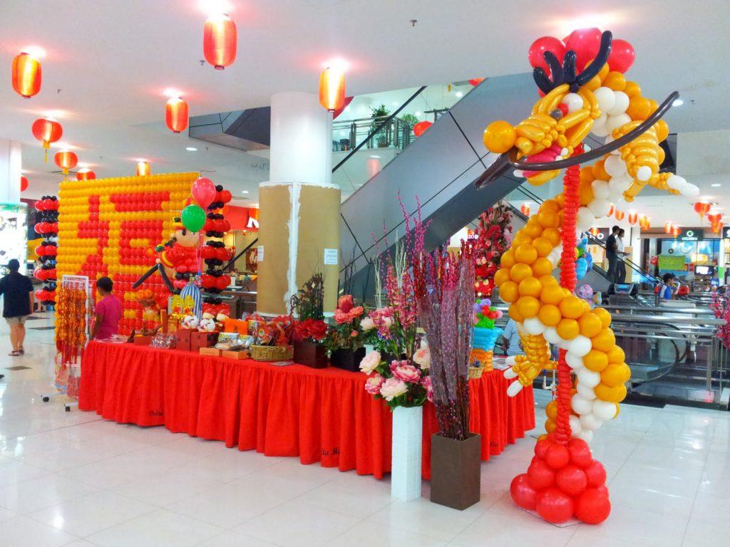 dekorasi balon imlek