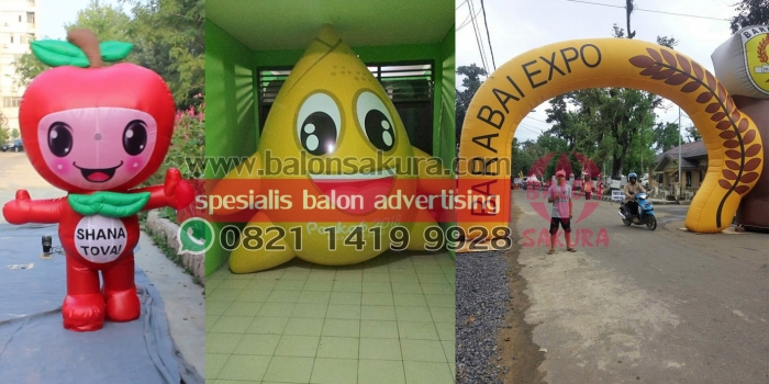 Supplier Balon Custom / Balon Maskot / Balon Karakter Murah | 0821 1419 9928