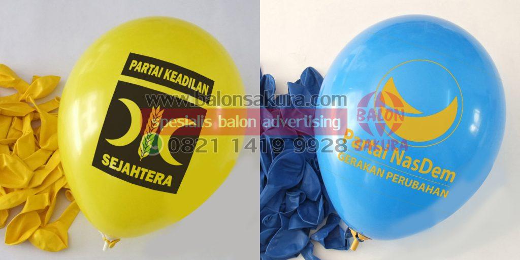 balon sablon partai pks nasdem