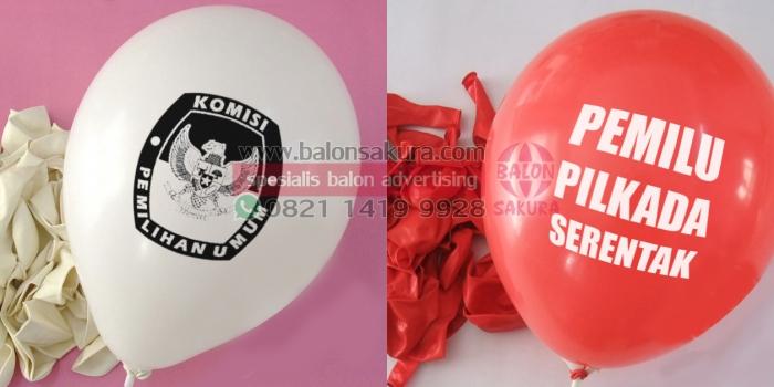Produksi Balon Sablon Partai Pemilu | Balon Sakura