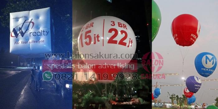 Balon Udara Properti | Rental Balon Udara Promosi Apartemen, Perumahan, Ruko, Gedung DLL