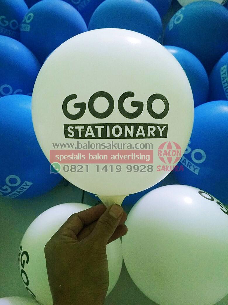 sablon balon stationary