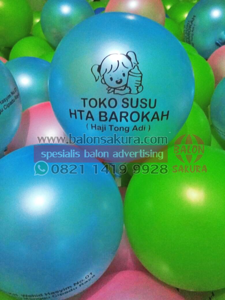 sablon balon toko susu
