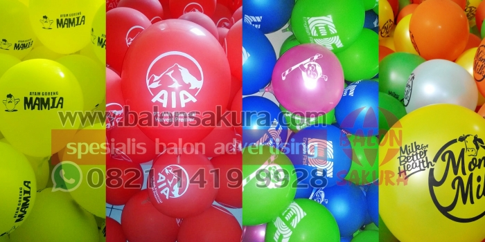 Balon Print Murah / Cetak Balon Sablon Cepat Berkualitas