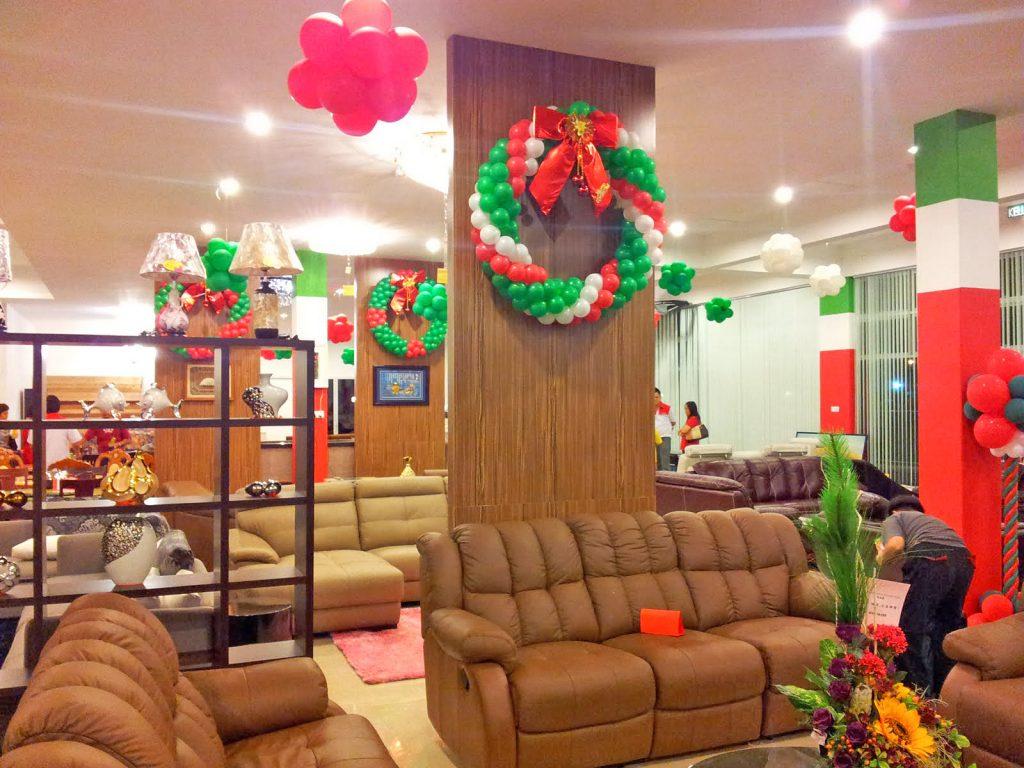 balon dekor natal