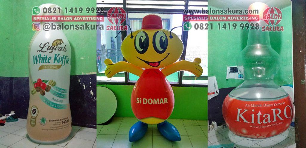 balon botol dan balon karakter