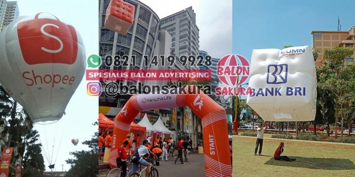 Sewa Balon Promosi Aman / Rental Balon Udara di Balon Sakura
