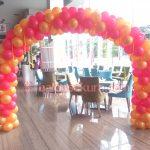 balon gate dekorasi orange