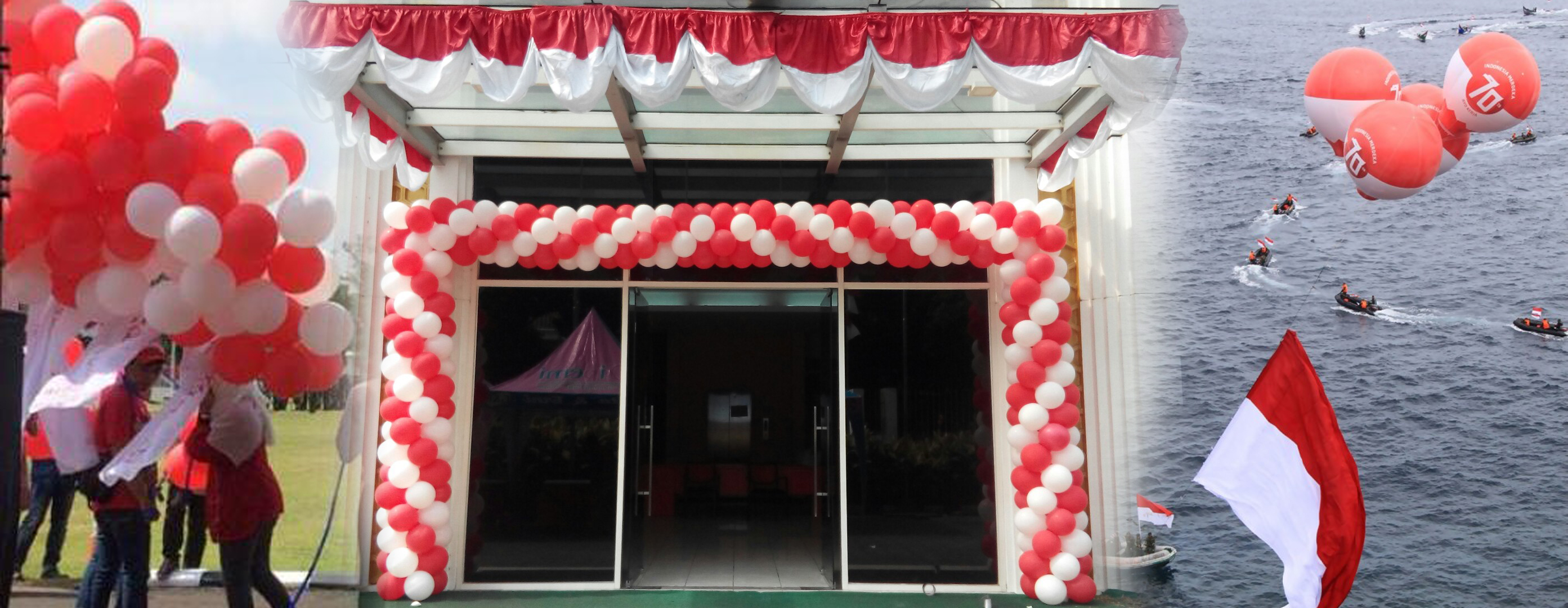 Balon dekorasi 17 agustus hut kemerdekaan indonesia for Dekor 17 agustus di hotel