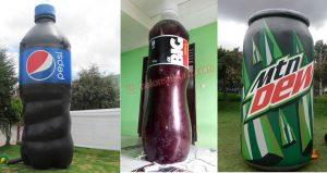 balon karakter botol
