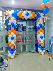 balon dekorasi bank bri